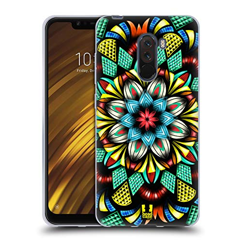 Head Case Designs Traditionell Laternen Mandala Soft Gel Huelle kompatibel mit Xiaomi Pocophone F1 / Poco F1