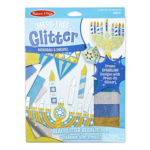 Melissa & Doug Mess-Free Glitter Menorah and Dreidel (Great Gift for Girls and Boys - Best for 5, 6, 7, 8, 9 Year Olds and Up)