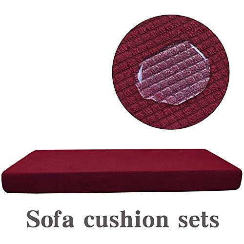 Nileco Elasticity/Sofa/Seat Cushion,Waterproof/Solid color/Seat Cover,Soft/Fleece/Furniture Protector,Washable/Easy Stretch/Sofa slipcover