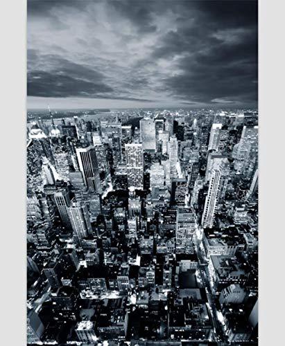KONGWST 500-1000-1500 Puzzle di Legno in Bianco e Nero Parigi Scena Notturna Gioco di Puzzle Creativo Toy-1000sheet