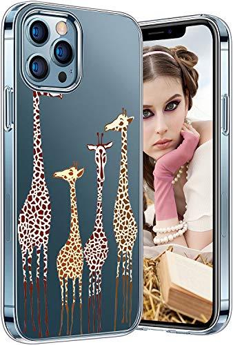 Tcbydl Funda para iPhone 12 Pro Max, creativa, de silicona TPU, transparente, suave y fina, para mujeres y hombres, Apple Clear (3,6,7 pulgadas)
