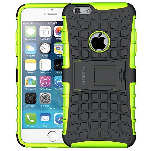 ALDHOFA Cover iPhone 6, Cover iPhone 6s, Doppio Strato a Ibrida Phone Caso per Apple iPhone 6/6S-Verde
