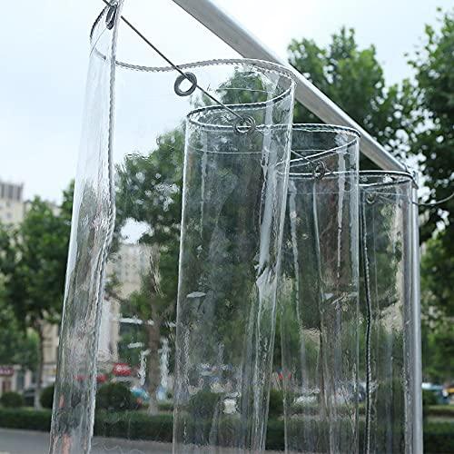 U/D Lonas Impermeables Exterior, Lona De Plástico De PVC Transparente A Prueba De Lluvia De Vidrio Suave con Ojales, Cubiertas De Hojas De Plantas De Flores para Exteriores,Clear,1x1.5m