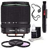 Pentax SMC DA 18-135mm F/3.5-5.6 ED AL (IF) DC WR Lens + 3 Piece Filter Kit + Lens Cleaning Kit + Lens Pen Cleaner + Lens Cap Keeper Bundle