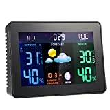 Decdeal Digital Wireless Weather Station Clock Alarm Snooze Function Indoor Outdoor Thermometer Hygrometer