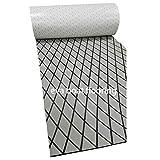 toogou schiuma eva non skid sintetica pavimenti in copriletto (75 x 28), marine diamante zerbino per la barca, kayak ponti (grigio con strisce nere)