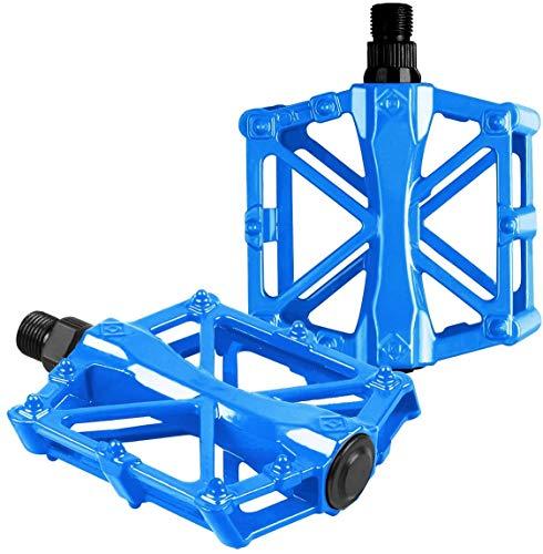 ARJudy Bike Pedals,Mountain Non-Slip Bike Pedals,Durable Aluminium Pedals No-Slip Flat Platform MTB Bike Pedal(Blue)