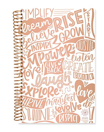 """bloom daily planners 2020 Calendar Year Day Planner Book - Soft Cover Weekly/Monthly Dated Agenda Organizer (January 2020 - December 2020) - 6"""" x 8.25"""" - Words of The Year"""