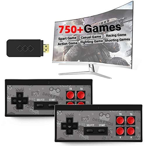 Kitabetty Retro-Spielekonsole, Tragbare HDMI Y2 HD-Videospielkonsole Wireless-TV-Spielekonsole, Plug & Play-Videospiele, Eingebaute 750 + NES Klassische Spiele, Tolles Geschenk für Game-Spieler