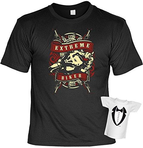 Biker Hemd - Extreme Biker - Shirt für echte Kerle mit Mini-Shirt ohne Flasche