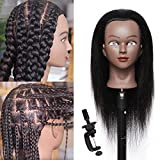 """Mannequin Head with Human Hair 16""""100% Real..."""