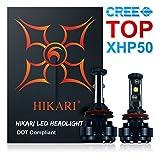 HIKARI LED Headlight Bulbs Conversion Kit -H11(H8,H9),CREE XHP50 9600lm 6000K Cool White