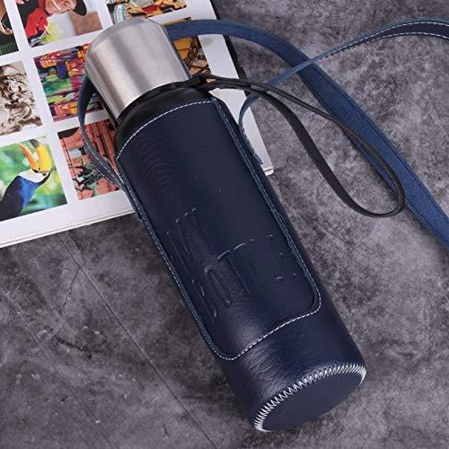 yylikehome 350/500 / 750ml Botella de vacío Doble aspiradora Botella de Aislamiento de Honda de Acero Inoxidable 304 Botella de Agua Montar, Viajar, Fitness Negro 750ml