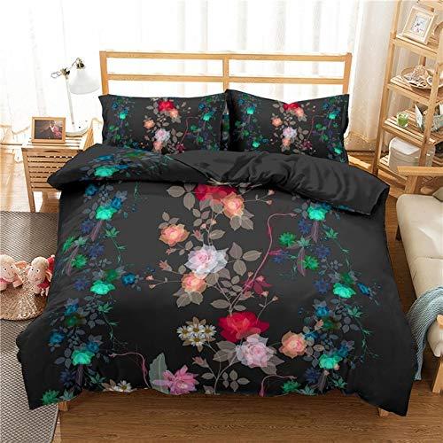 Juego de cama King Size cubierta del edredón estampado de flores for las niñas individual Sábanas funda nórdica reina de tamaño con fundas de almohada ( Color : 6 , Size : UK SupKing 220x260cm )