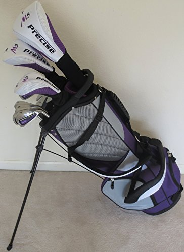 Ladies Complete Golf Club Set - Driver, Fairway Wood, Hybrid, Irons, Putter, Clubs and Stand Bag Graphite Shafts Right Handed