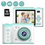 Cámara Digital para niños, 1080P HD Video Cámara Selfie Mini Cámara de Fotos Digitales para Infantil Recargable 2.8 Pulgadas con Tarjeta de 16GB TF, Regalos de 3 a 12 años de Niños y Niñas