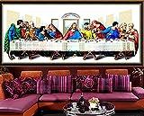 LucaSng Diamond Painting para decoración del hogar Arte Pared 5D DIY Pintura al óleo de la última Cena Diamante Pintura Bordado de Punto de Cruz Completo Kit,Diamante Cuadrado,80x220cm