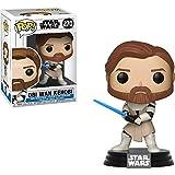 OBI Wan Kenobi: Star Wars - The Clone Wars x Funko POP! Vinyl Figure & 1 POP! Compatible PET Plastic Graphical Protector Bundle [#270 / 31796 - B]