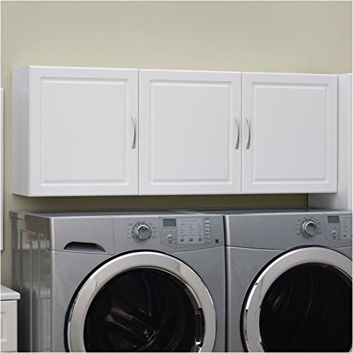 """Pemberly Row 54"""" Wall Cabinet in White Aquaseal"""