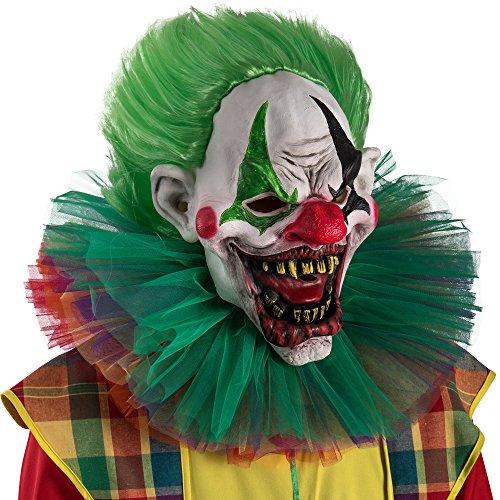 Carnival Toys 1469Máscara Payaso de terror con el pelo, multicolor, talla única