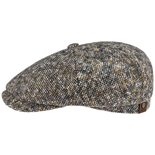 Stetson Hatteras Donegal Tweed cap Berretto Newsboy Cappello Invernale 59 cm - Blu