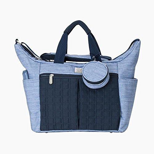 Ergobaby Baby Wickeltasche Blau mit Wickelunterlage für Unterwegs Abwaschbar, Babytasche Reisetasche Multifunktional Wasserabweisend