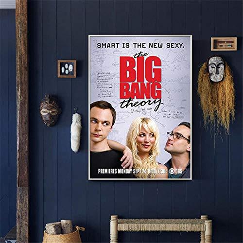 YWOHP Retro Filmplakat Theorie Wandkunst Malerei Leinwand Bild für Wohnzimmer Hauptdekoration Kinderzimmer Dekoration-60x80cm Rahmenlos