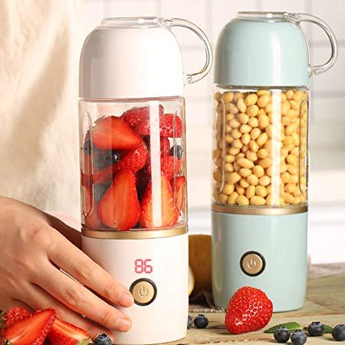 KUAIF Coupe de jus électrique Mixeur mélangeur Mini-centrifugeuse électrique USB Portable Mixing Juice Machine Affichage numérique Tasse de Fruits en Plastique