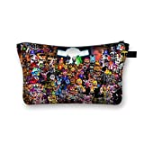 Fnaf Cosmetic Bag, Pencil Stationery Pouch Bag, 3d Printing Five Night At Freddy's Bag, Springtrap, Foxy, Bonnie, Rabit, Marionette, Chica Plush