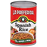 La Preferida Canned Spanish Rice - Quick & Easy, Robust Sauce of Tomatoes, Bell Pepper and Onion. Vegan, Natural ingredients, No preservatives, 15 oz (Pack of 24)