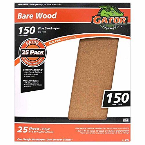ALI INDUSTRIES 4225 Sandpaper-Sheets, 9' x 11'