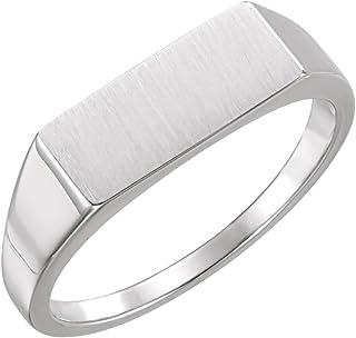 FB Jewels 925 الفضة الاسترليني للرجال خاتم سيجنيت مستطيل