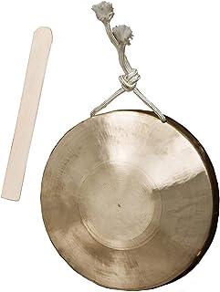 銅鑼 ドラ 打楽器 タムタム ゴング 銅製 格闘技 風水 合図 イベント 法要 お囃子 チャイナドラ [elrin] (21cm)