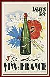 PostersAndCo Angers VINS France 1937 Rmlj-Poster/Reproduction 60x80cm* d1 Affiche Vintage/RéTRO (BR*)