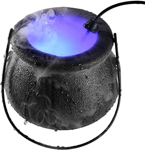 ZLJ Canopy Humidifier, Cool Mist Humidifier Gift Mist Maker with Pot, 12 Led Fogger Water Fountain Pond Mist Machine Fogger Mister Atomizer Air Humidifier, Mini Size Large Fog Capacity, Perfect