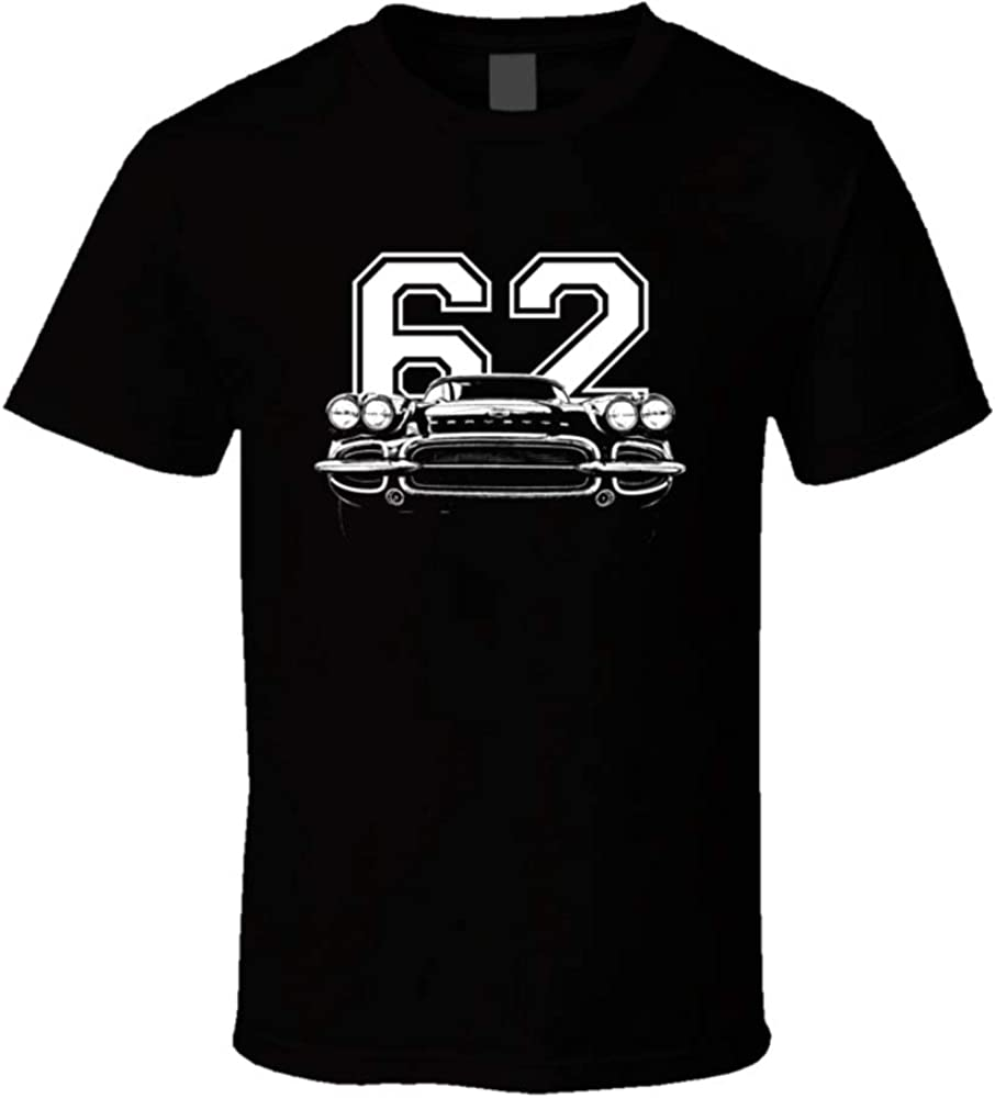1962 Corvette Grill View with Black T Washington Mall Direct store Year 3XL Shirt