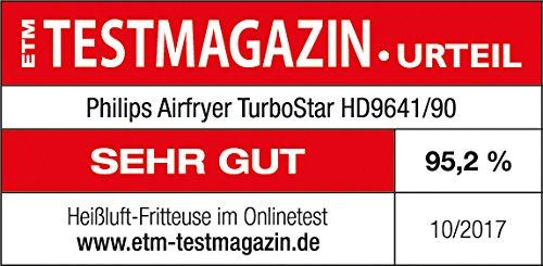 Philips HD9641/90 Airfryer Turbostar (1425 W, Heißluftfritteuse, ohne Öl, für 2-3 Personen, digitales Display) schwarz - 8