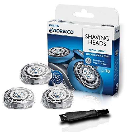SH70 Replacement Head For Norelco Series 7000,Gentle Precision Blades,3 Shaving Heads Per Packaging (Built-in razor cleaning brush)