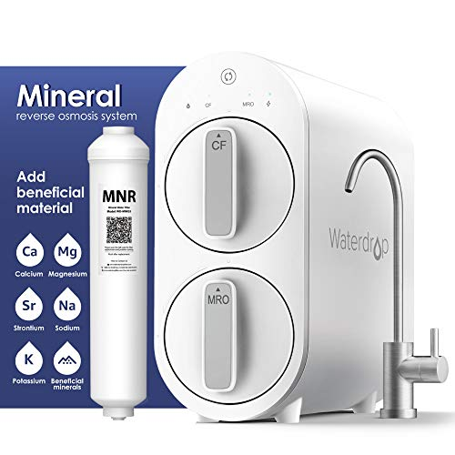 Waterdrop RO Reverse Osmosis Water Filtration System with Remineralization, TDS Reduction, 400 GPD, Tankless, 1:1 Pure to Drain, USA Tech Support, WD-G2MNR-W