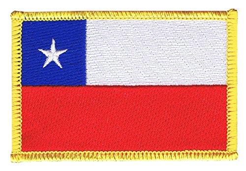 Flaggenfritze Flaggen Aufnäher Chile Fahne Patch + gratis Aufkleber