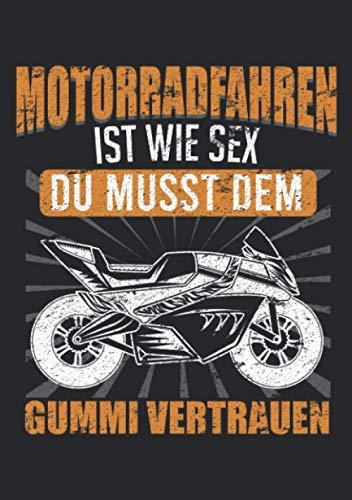 Notizbuch A5 liniert mit Softcover Design: Motorrad Biker Spruch Supersportler Rennmotorrad: 120 linierte DIN A5 Seiten