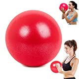 WELLXUNK® Yoga Fitness Ball, 25cm Morbida Pilates Palla, Antiscivolo Esercizio Ball, Anti Burst Yoga Palla, Palla Pilates Piccola Ginnastica Ritmica per Fitness Equilibrio, Core Training (Rosso)
