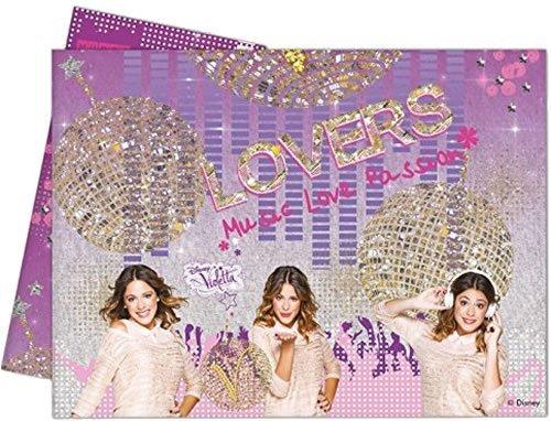 PROCOS Mantel * Violetta Oro * para fiestas de cumpleaños infantil o temática//Fiesta De Cumpleaños Table Cover Disney rockera Color Rosa