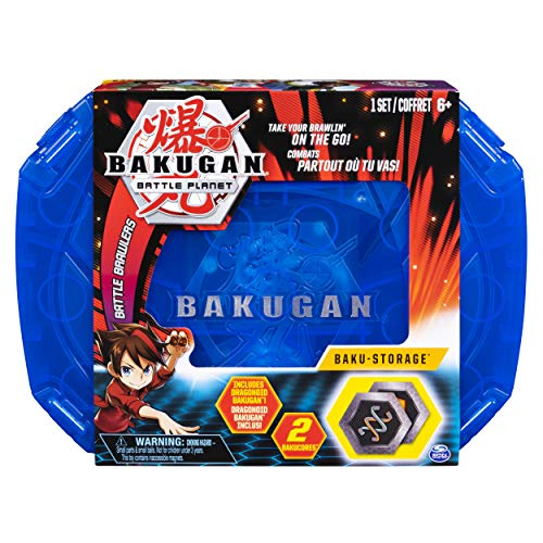 Bakugan, Baku-Storage Case (Blue) Collectible Action Figures, for Ages 6 and Up