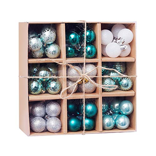 """VEFSU 99 PCS Christmas Colorful Ball Ornaments, Xmas Tree Bling Balls Decorations for Holiday Wedding Party Decoration, Hooks Included 1.8""""(D)"""