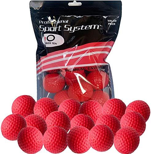FINGER TEN Golf Übungsbälle Trainingsbälle 12 Stück Golfbälle Trainings Heimgebrauch Im Freien Garten Rot Orange Gelb Blau Für Damen Herren Kinder (Rot, 12 Stück)