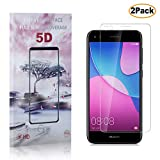 Casake[2 PACK] Clear Glass Screen Protector for Huawei P9 Lite Mini with Install Tool, [Case-friendly] Tempered Glass Screen Protector with Positioner for Huawei P9 Lite Mini