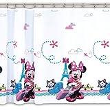 Cortina de Gasa de Disney – Minnie Mouse 1-150 cm de Ancho x 150 cm de caída