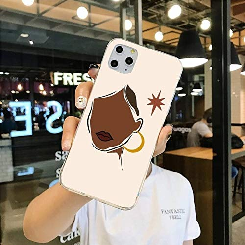 TDG Fundas Abstract Fashion Vintage Girl Minimalist Art Phone Case For iPhone 12 Pro MAX 11 Pro XS MAX 8 7 6 6S Plus X 5S Se 2020 XR Cover For Iphone5C A12