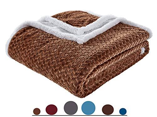 Luxury Braided Design Ultra Plush Heavy-Weight Sherpa Blanket |Soft, Warm, Cozy|Micromink Sherpa-Backing Reversible Blanket